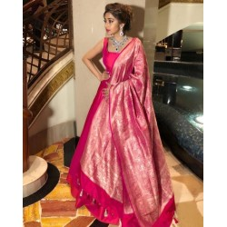 Anarkali gown with Heavy Banarasi Dupatta