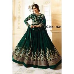 Ayesha Takia Dark Green Georgette Designer Gown