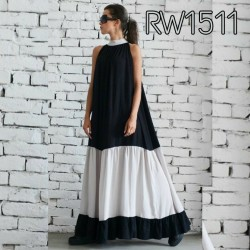 Black and White Georgette Stylish Gown