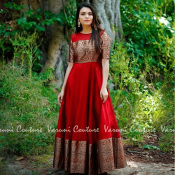 Ruby Red South Indian Fashion Gown