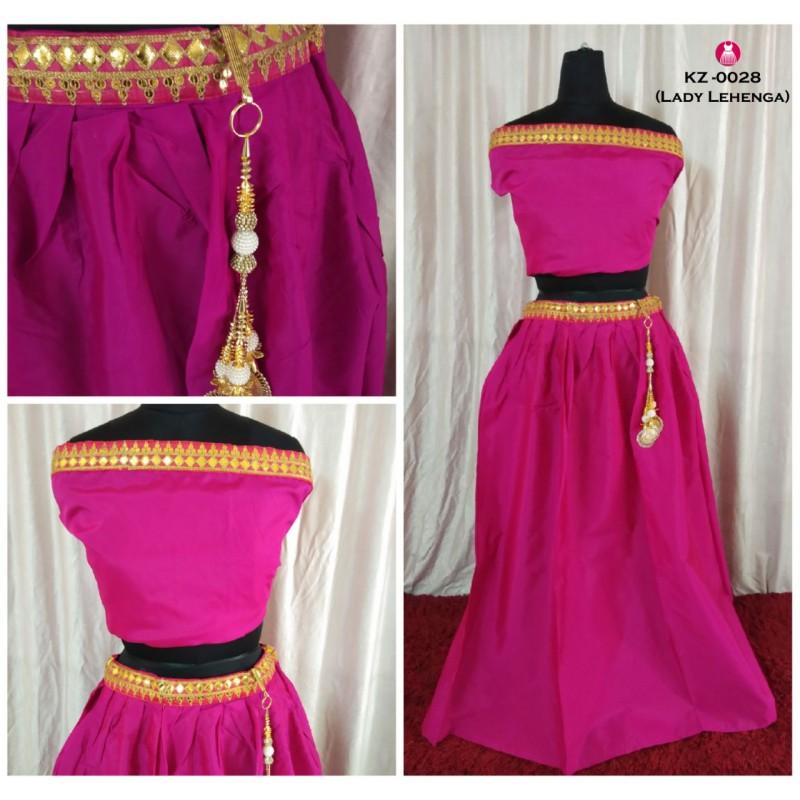 685157fa5b8118 Taffeta Silk Embroidery Semi Stitched Lehenga Crop Top