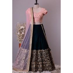Velvet Lehenga Choli For party and Wedding   Wedding Lehenga  