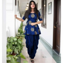 Stylist Chanderi cotton Stich Dhoti Suit
