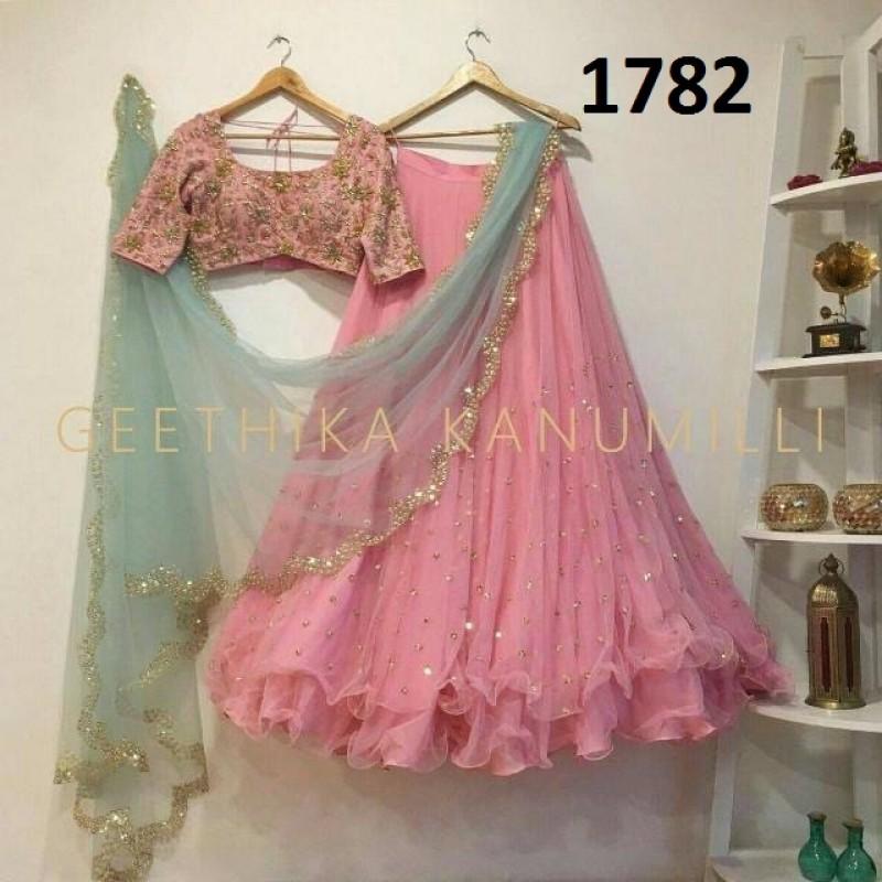 ced36170a6 Beautiful Georgette Designer Lehenga Choli SKU -1782