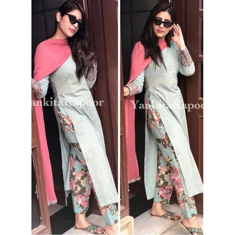 ace50e1f78 Designer Floral Print Pant Style Fully Stich Salwar Suit ...