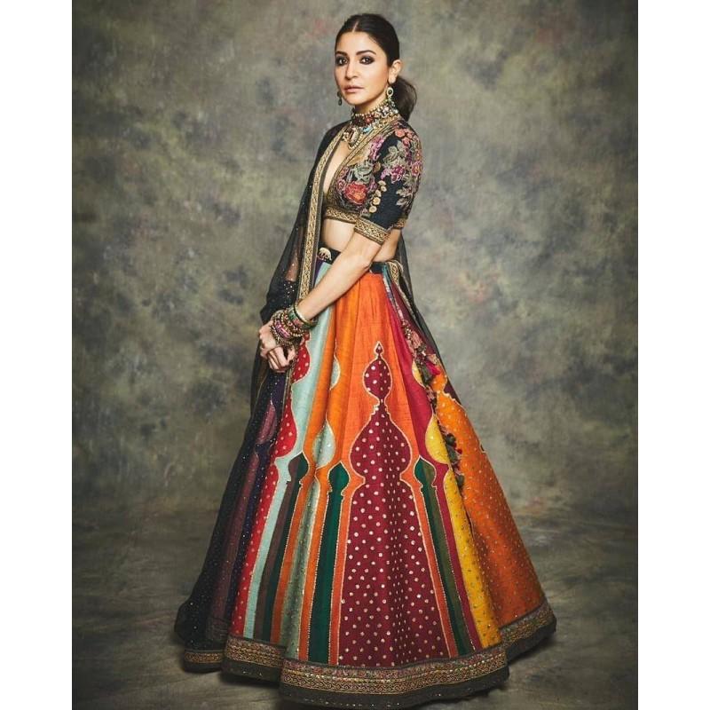 Anushka Sharma Pretty Girl Designer Lehenga Choli Bollywood