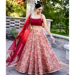Wedding Special Red Designer Lehenga Choli