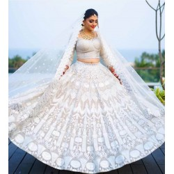 White net Latest Lehenga Choli