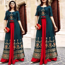 Prachi Desai Stitched Party Wear Kurti with Palazzo