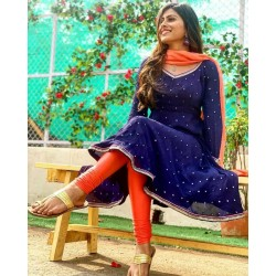 Anarkali Suit in Vibrant Colors And On Designer Theme