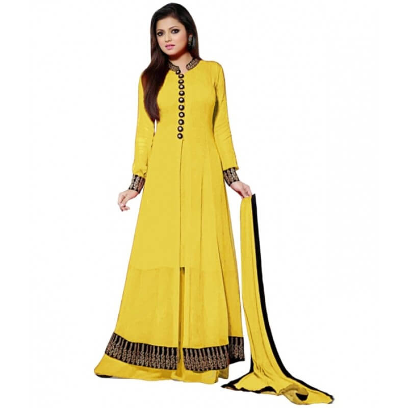 504be0f6e9 Shraddha Latest Designer Yellow Salwar Suit Code:Shraddha ...