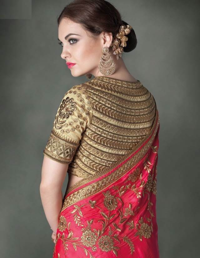latest trends blouse back designs in india
